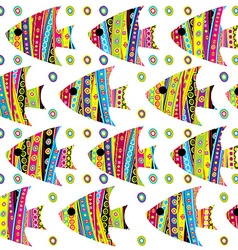 Patterned fishes seamless vector image vector image