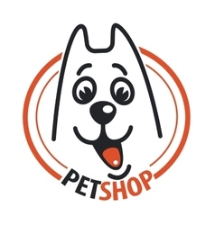 Pet shop with a dog head vector