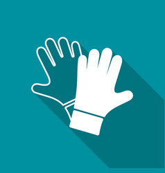 protective gloves pair icon vector image