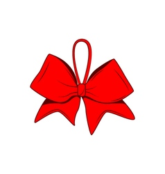 Red bow isolated on white design element vector