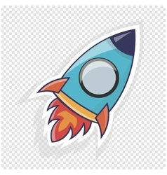 Rocket icon Object to website vector image
