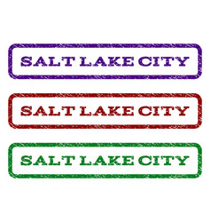salt lake city watermark stamp vector image vector image
