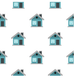 Small blue cottage pattern seamless vector