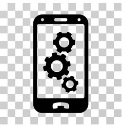 Smartphone settings icon vector
