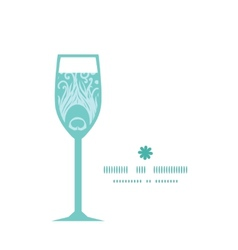 soft peacock feathers wine glass silhouette vector image