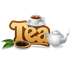 tea concept vector image vector image