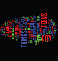 Teens in the city text background word cloud vector
