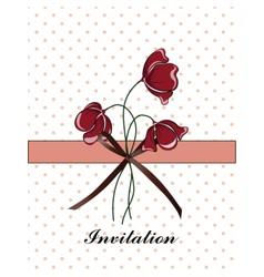 Vintage traditional invitation vector image
