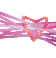 - Heart ribbon vector image