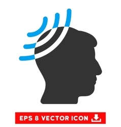 Radio reception head eps icon vector