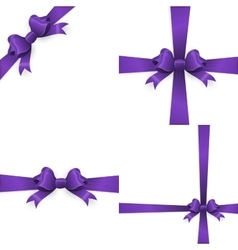 Purple bow and purple ribbon eps 10 vector