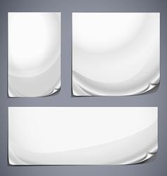 Grey labels set vector image
