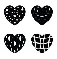 Heart icons set vector