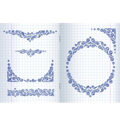 Ornate frames and borders vector image