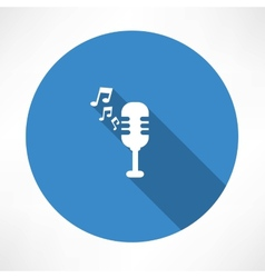 Microphone and melody icon vector image