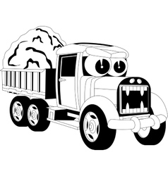 Cartoon lorry car vector