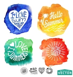 Abstract wtercolor cardbackgroundsummer design vector