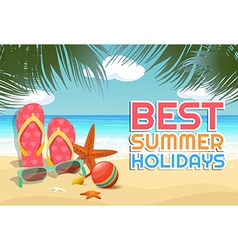 Beautiful tropical summer vacation vector