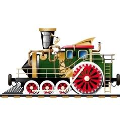 Steampunk steam locomotive vector