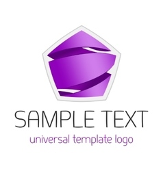 Universal template logo vector image