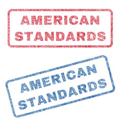 American standards textile stamps vector