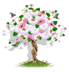 Art flower tree vector