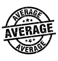 Average round grunge black stamp vector