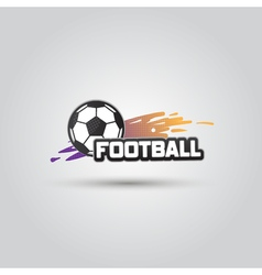 Ball symbol Football Logo Badge Sport emblem vector image vector image