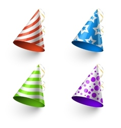 Birthday party funny hats photo booth vector