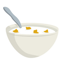 Breakfast cereal bowl vector