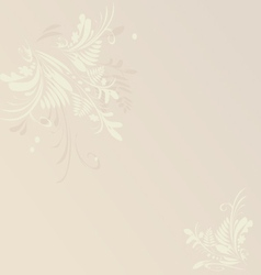Card or invitation floral neutral background vector image vector image