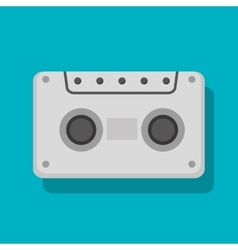 cassette social media isolated icon design vector image