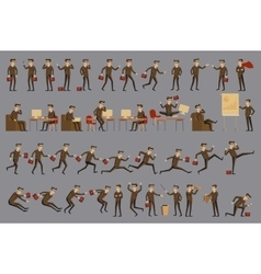 character positions set business people vector image