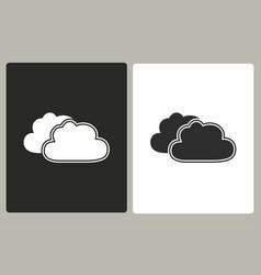 Clouds sky - icon vector