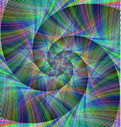 Computer generated spiral fractal background vector image