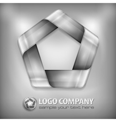 Design pentagon on grey vector