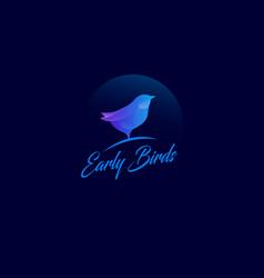 Early bird logo vector