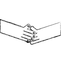 Figure humans shaking hands with fingers and nails vector