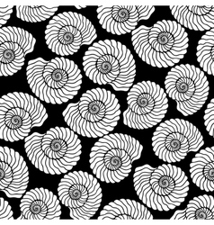 Graphic seashell pattern vector