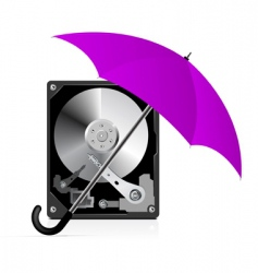 hard disk drive protection vector image