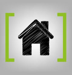 Home silhouette black vector