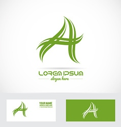 Letter a swoosh logo vector