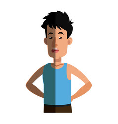 Man tousled leisure image shadow vector