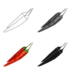 Mexican chili peppers icon in cartoon style vector