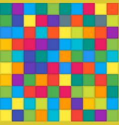 Multi color mosaic tile square background vector