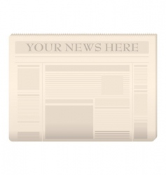 newspaper template vector image vector image