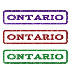 Ontario watermark stamp vector