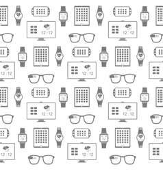 Pattern of smart gadgets vector