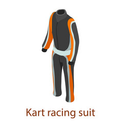 Racing suit icon isometric 3d style vector