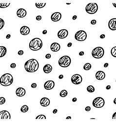 Seamless pattern with hand drawn circles vector image vector image